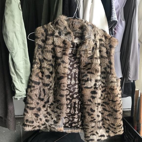 What Goes Around Comes Around Jackets & Blazers - What Goes Around Comes Around Rabbit Fur Vest